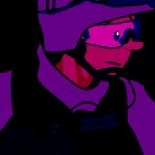 Rodriguez in combat gear